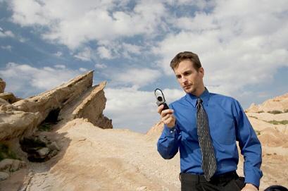 Mann mit Handy